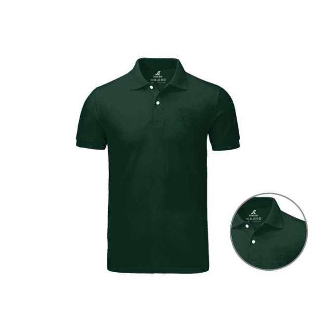 Áo phông nam có cổ SLC màu xanh rêu