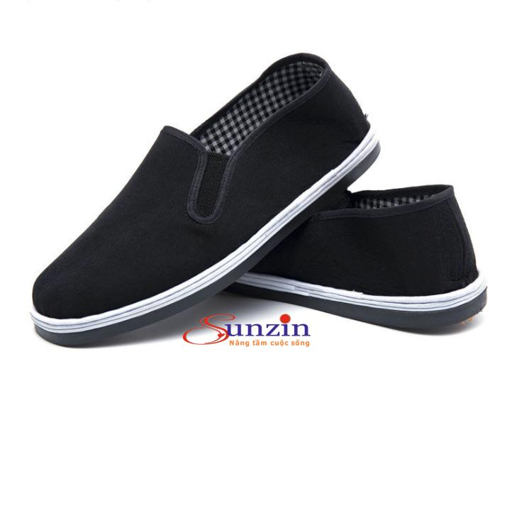 Giày vải slip on nam nữ  SZ2 (đen)