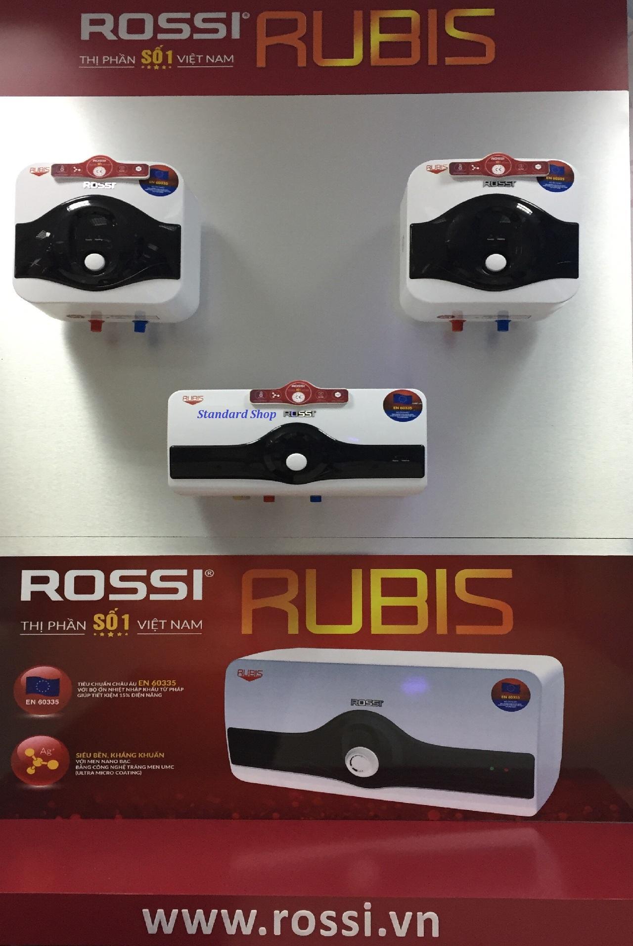 Bình nước nóng chống giật Rossi Rubis 15 lít vuông RR15SQ