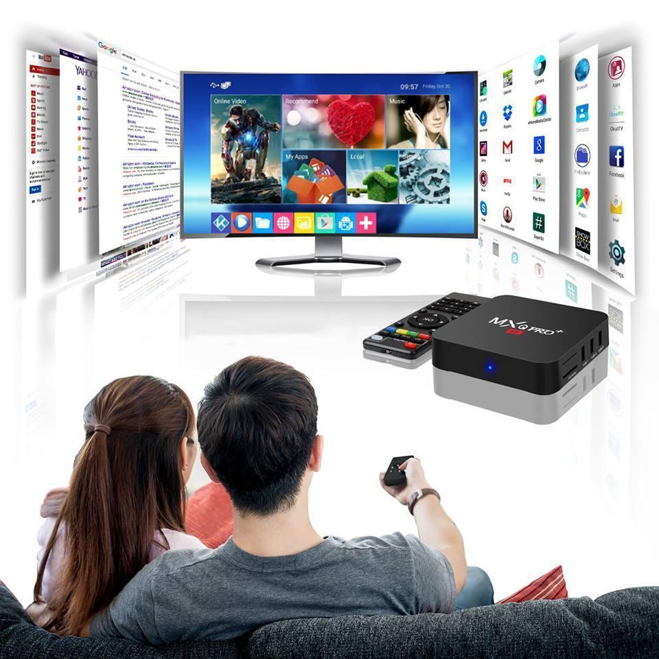 Tivi Box MXQ-4K Pro Với Android 7.1.2 Biến TV thường trở thành Smart TV Phiên bản 2018