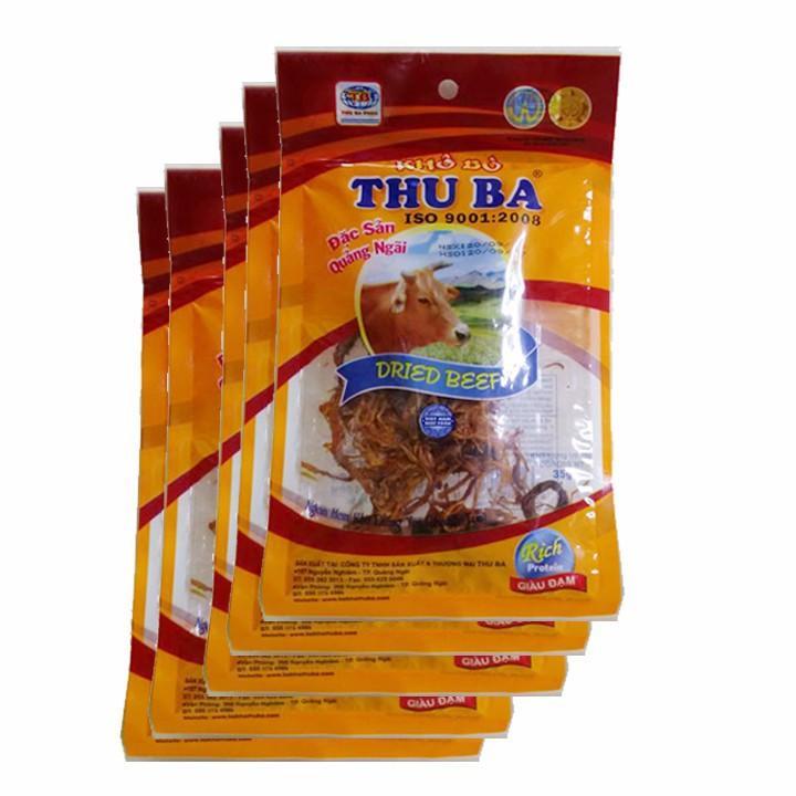 Thịt bò khô Thu Ba dạng sợi gói 35g