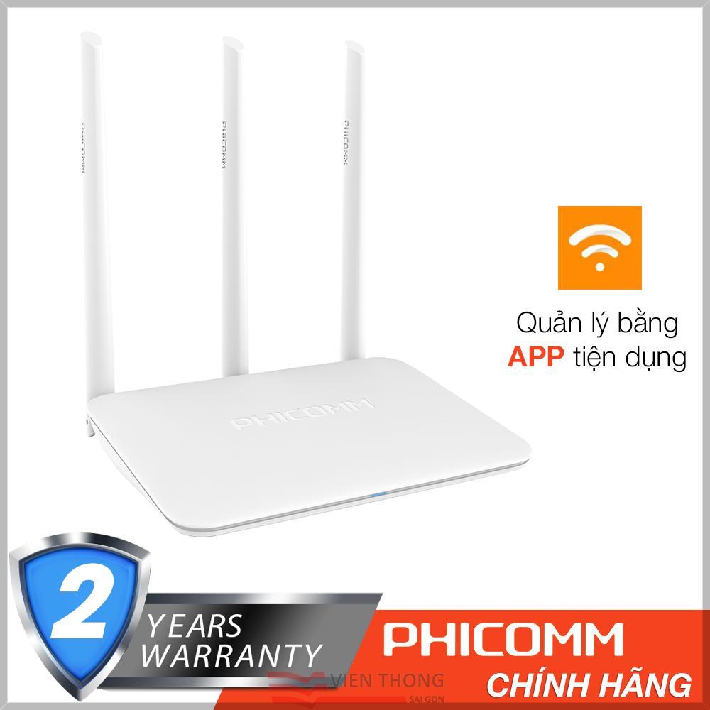 Router Wifi 300mbps PHICOMM KE 2M 3 Angten Ram 32MB - Hãng phân phối chính thức + Tặng cáp RJ45