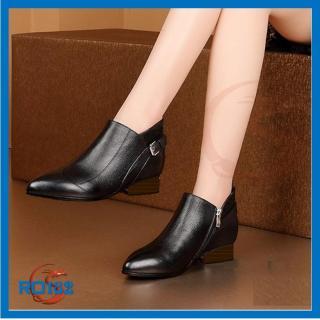 Giày boot bốt nữ đẹp Rosata bệt 3cm RO182 thumbnail