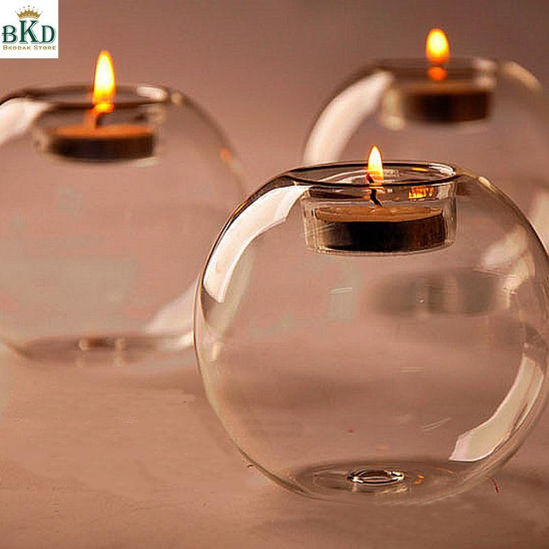 Glass Candle Holder Terrarium Bauble Transparent Vase Wedding Home Decoration