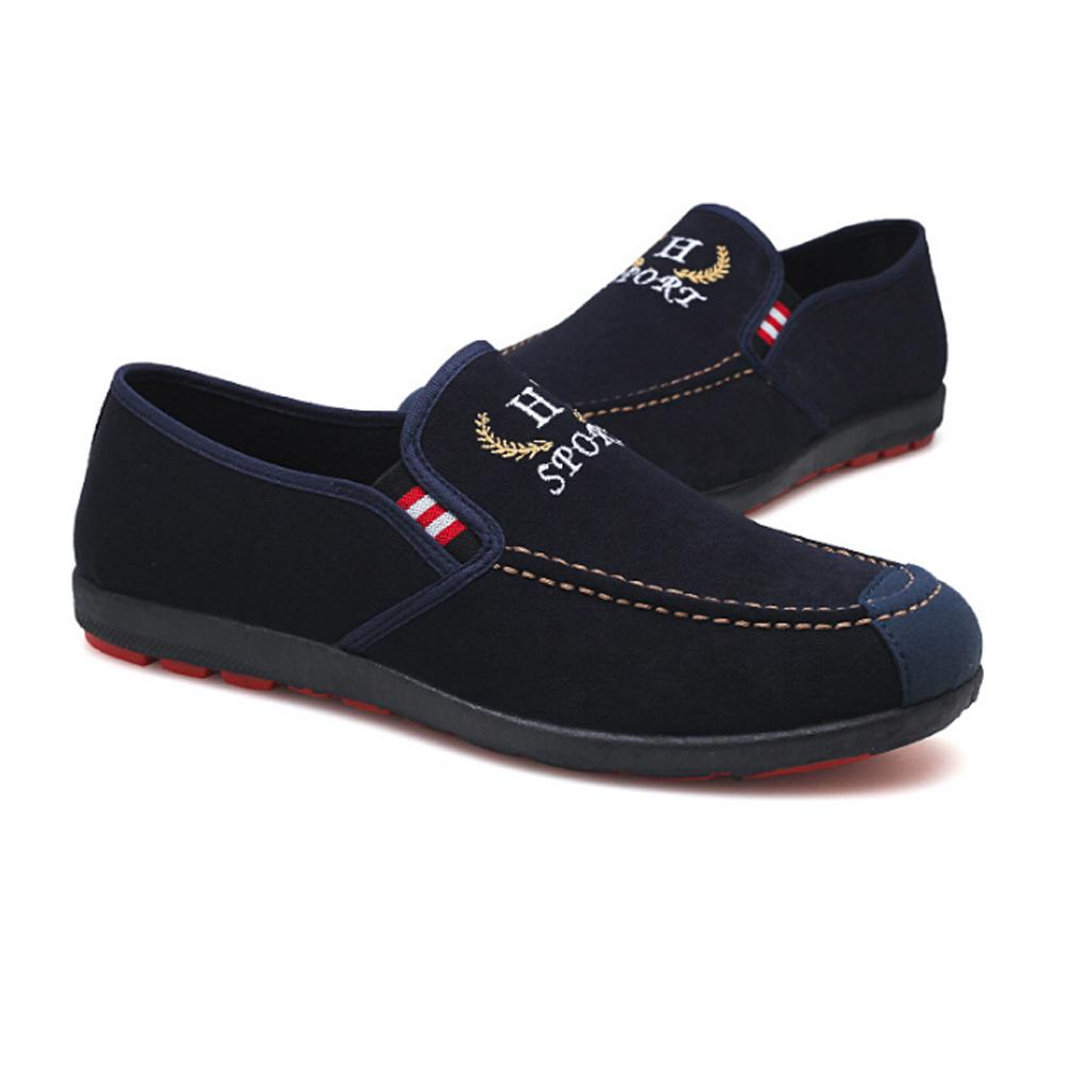 Giày Lười Vải Nam Thời Trang , Giày Lười Nam Vải Lộn G31 ( giao màu ngẫu nhiên )