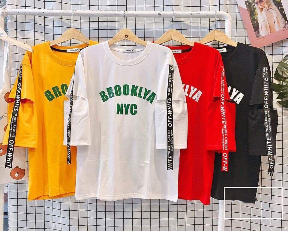 ÁO THUN TAY LỠ NYC BROOKLYN
