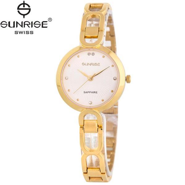 Đồng hồ nữ dây kim loại mặt kính sapphire chống xước Sunrise SL721LK
