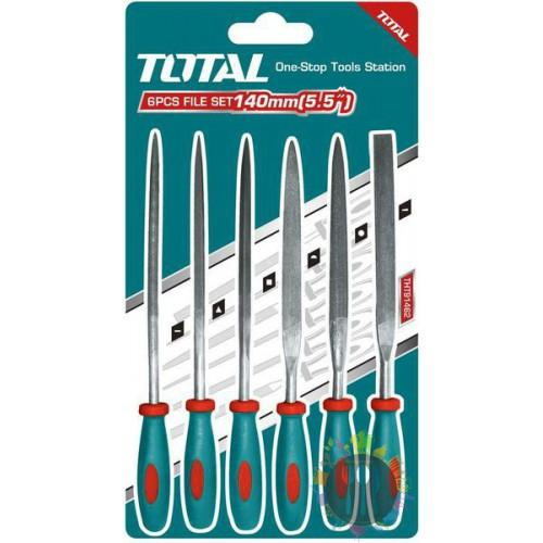 Bộ dũa mini 6 chi tiết 3x140mm-Total THT91462