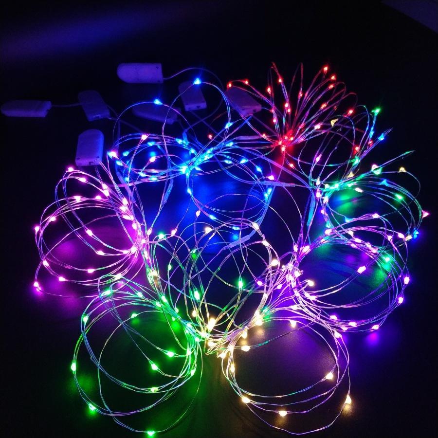 Đèn LED trang trí Dây đồng dài 1m 10 bóng kèm Pin