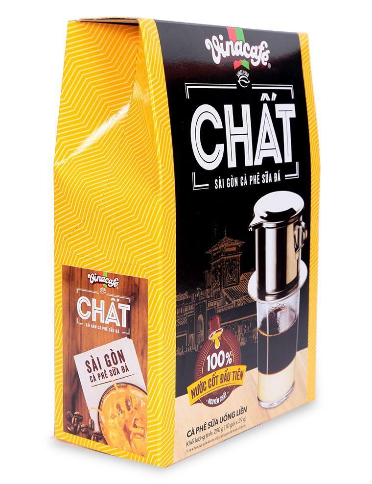 Vinacafe Chất - Sài Gòn Cà Phê Sữa Đá Hộp 10 Gói x 29G