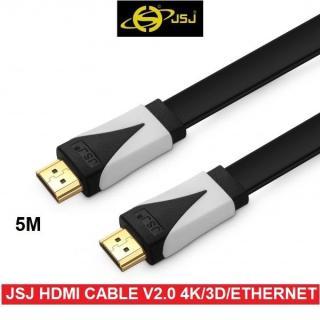 [HCM]Dây cáp HDMI JSJ chuẩn 2.0 hỗ trợ 3D 4K Ultra HD Ethernet dài 5M thumbnail