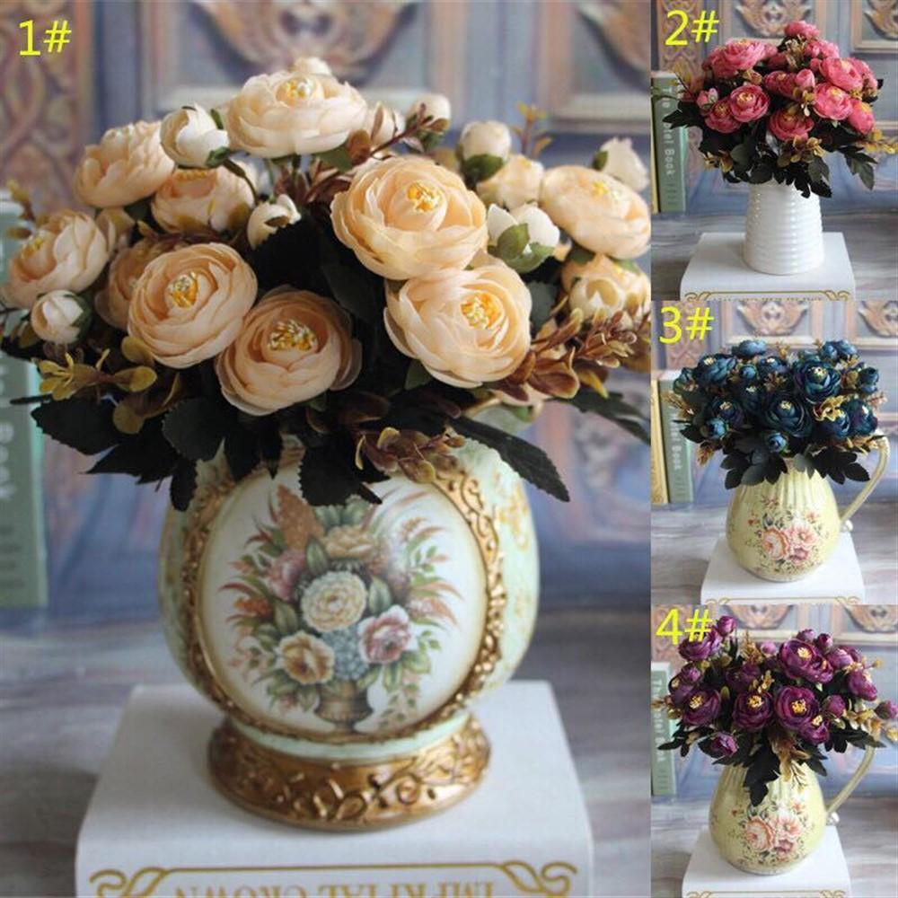 Hoa hồng Hungary Châu Âu - hoa lụa để bàn làm việc  - hoa hồng giả - hoa giả trang trí nội thất - hoa để bàn phòng khách - hoa cưới