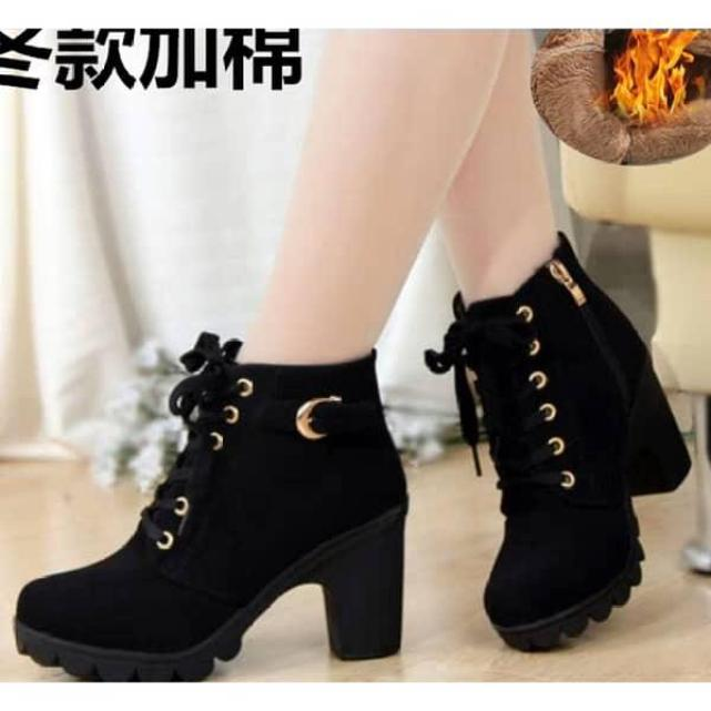Giày nữ đẹp, Bốt nữ cao 7 phân, kiểu dáng đẹp, đi ôm chân, tạo cảm giác thoải mái khi đi cao gót - Ans Ans Store giá rẻ