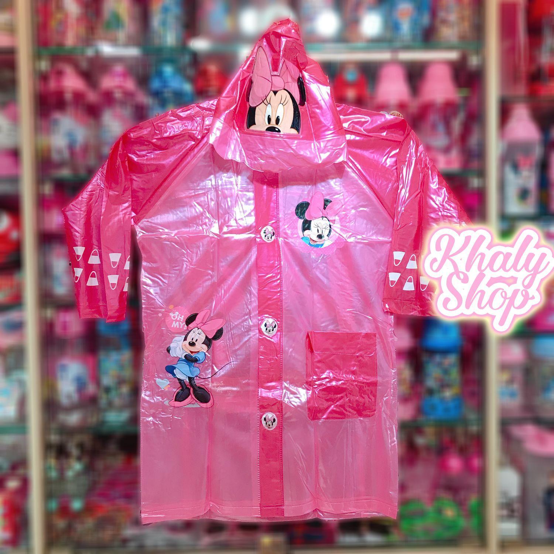Áo mưa bóng hình Chuột Minnie Mickey màu hồng dành cho trẻ em có nhiều size (S-M-L-XL-XXL) - 36MIC6026138