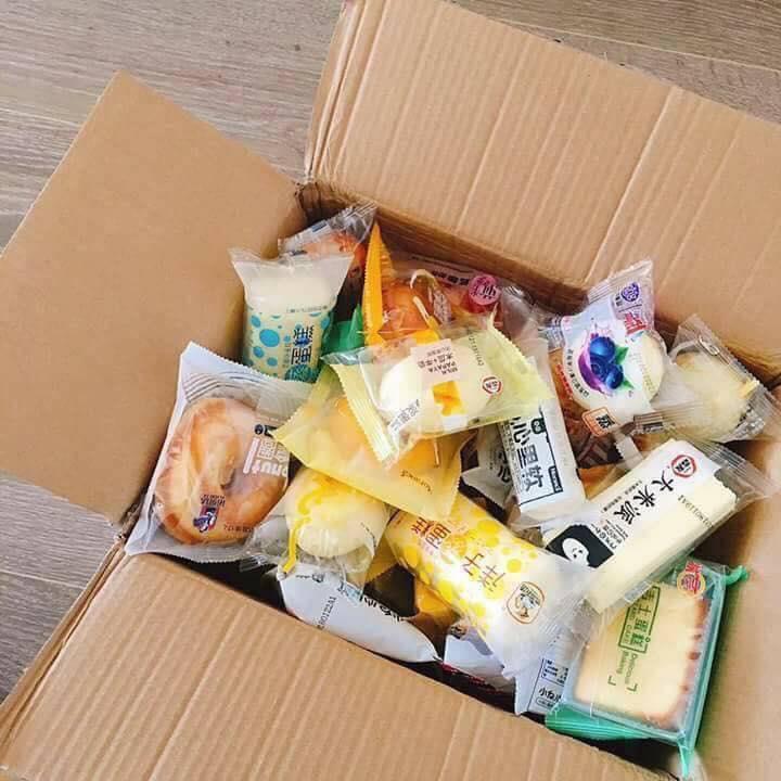 Box 1kg Bánh Tươi Đài Loan Mix 25 vị