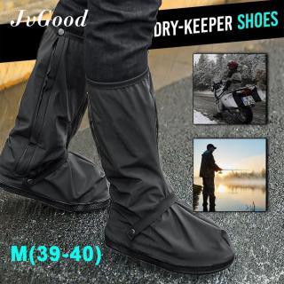 JvGood Dài Đen Chống trượt Chống Nước Mưa Boot Bao Cả Đôi Giày Thun có Dây dành cho Nữ Chống Thấm Nước Khởi Động (1 cặp) -quốc tế thumbnail
