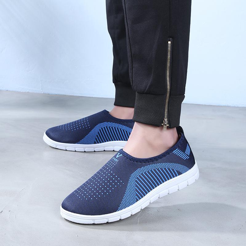 Giày lười nam phong cách êm chân thoáng khí - chữ V - Size 39 đến 44 - V113