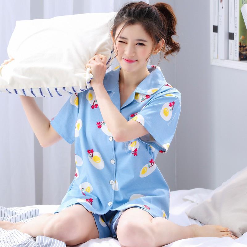 Bộ Đồ Pyjama Cộc Tay Cute Cho Nữ - BMNG2 - VRG1540