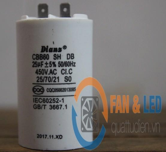 Tụ Dianz CBB60 25uF/450VAC