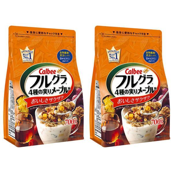 Ngũ cốc Calbee Nhật Bản Màu Cam: Óc chó, khoai lang, mâm xôi, nho…