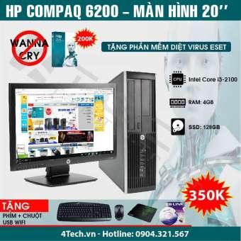 máy tính để bàn hp 6200 core i3 2100,4gb ram, ssd 128gb, màn hình 20inch, tặng phím + chuột + usb wifi (hàng nhập khẩu).