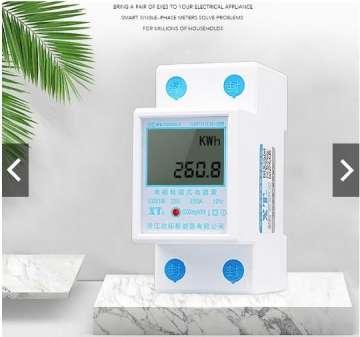 Công tơ điện tử 1 pha đa năng 80A đo công suất, điện áp, cường độ