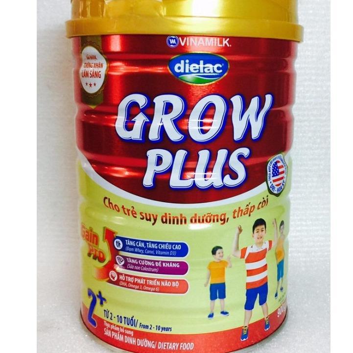 Sữa bột Vinamilk Dielac Grow Plus màu đỏ 2+ 900g (hộp thiếc)