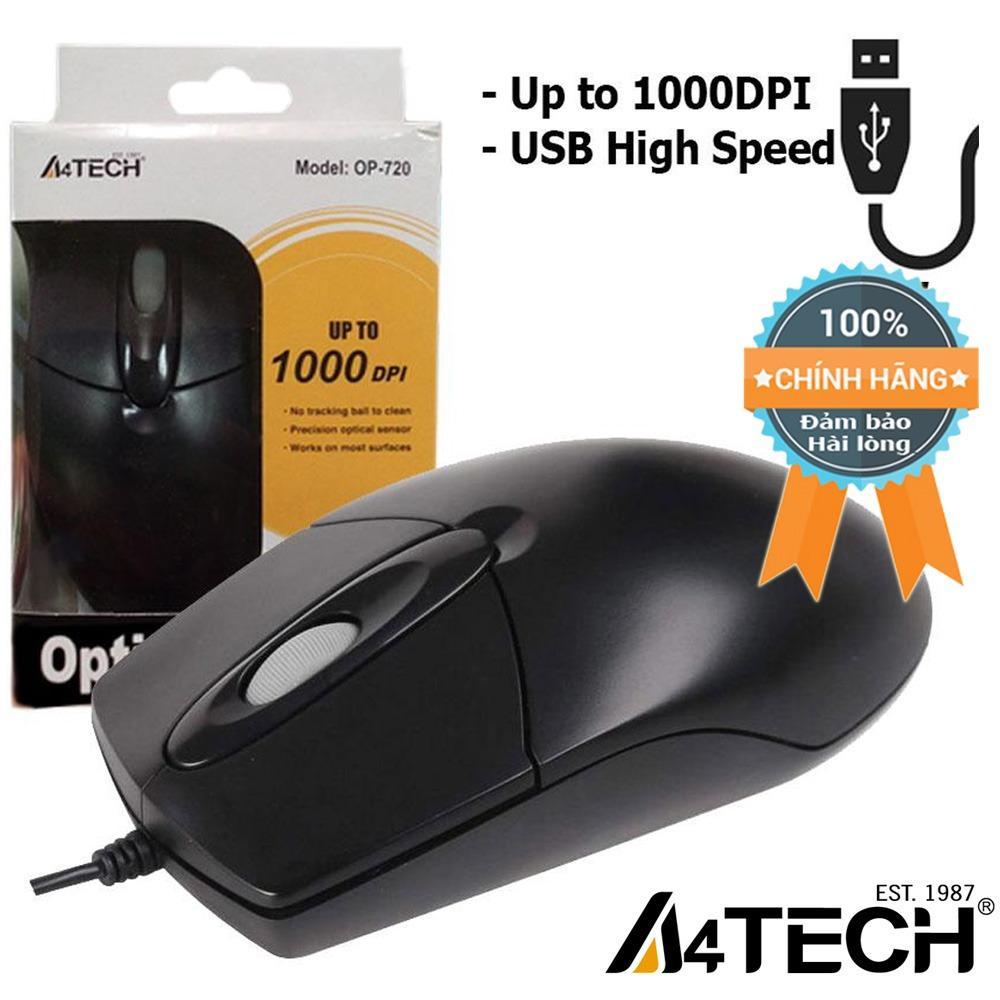Chuột máy vi tính có dây A4Tech OP720 1000dpi USB - Hãng Phân phối chính thức