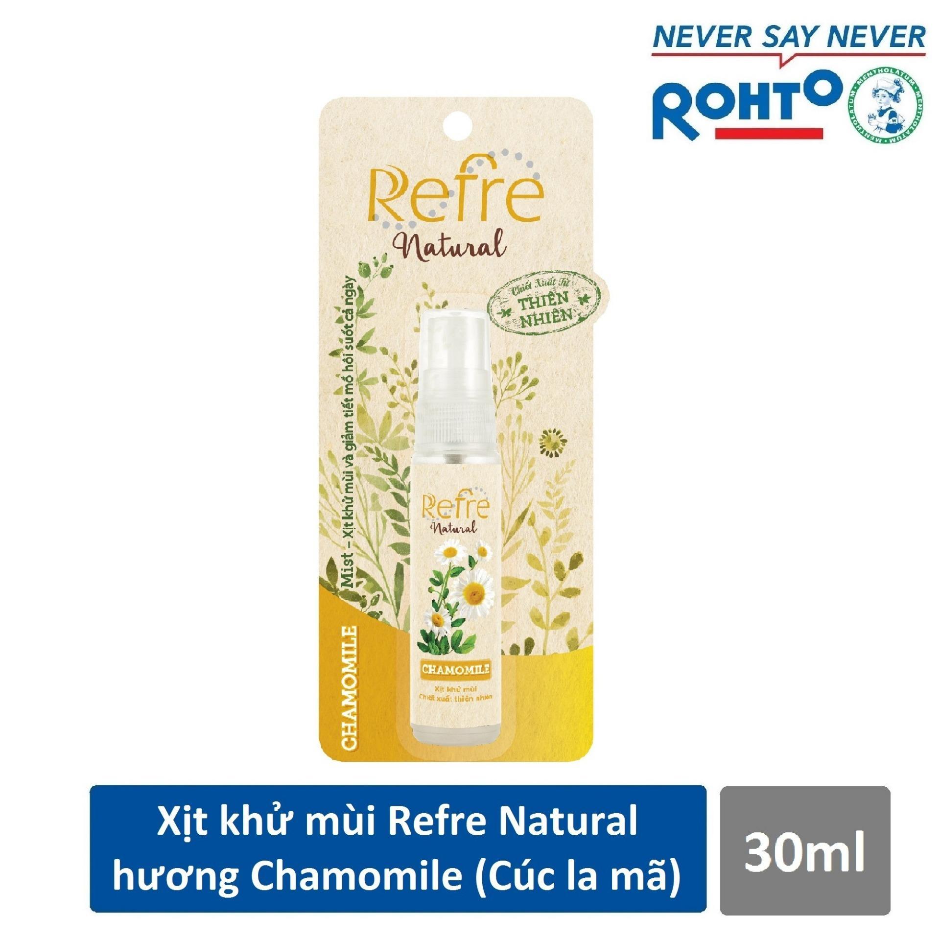 Xịt Khử Mùi Refre Natural Chamomile Hương Cúc La Mã 30ml