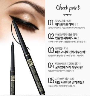 Chì Kẻ Mắt Chống Thấm Karadium Waterproof Eyeliner Pencil Black thumbnail