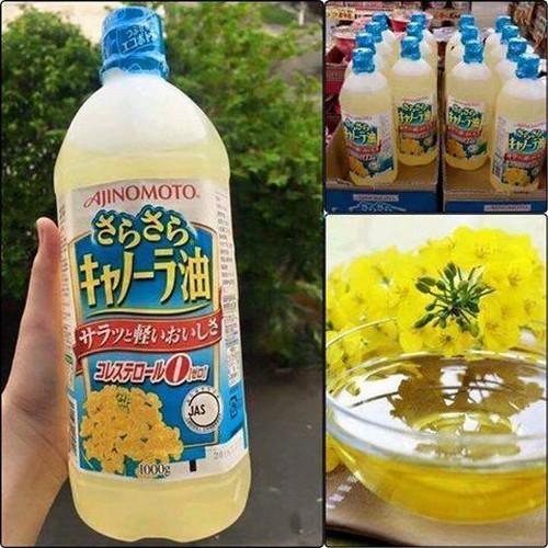Dầu ăn hạt cải Ajinomoto nội địa Nhật Bản Date T10/2019