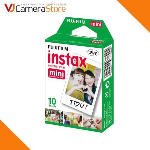 Film cho máy ảnh Fujifilm Instax Mini chính hãng (hộp 10 tấm) - độ bền lên tới 40 năm - Hãng phân phối chính thức