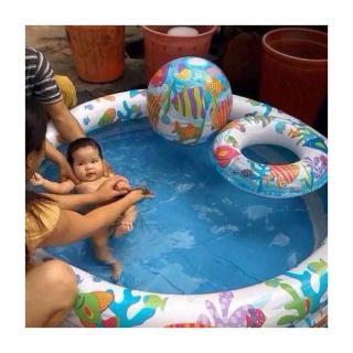 Bể bơi mini bao gồm cả bóng và phao bơi cho bé - bể Bơi Phao 3 Chi TIết Kèm Bóng Và Phao Bơi Cho Bé - Bể phao cầu vòng kèm bóng và phao - đồ dùng sinh hoạt cho bé - đồ chơi vận động cho bé - hồ phao cao cấp - đồ chơi cho bé ngày hè thumbnail