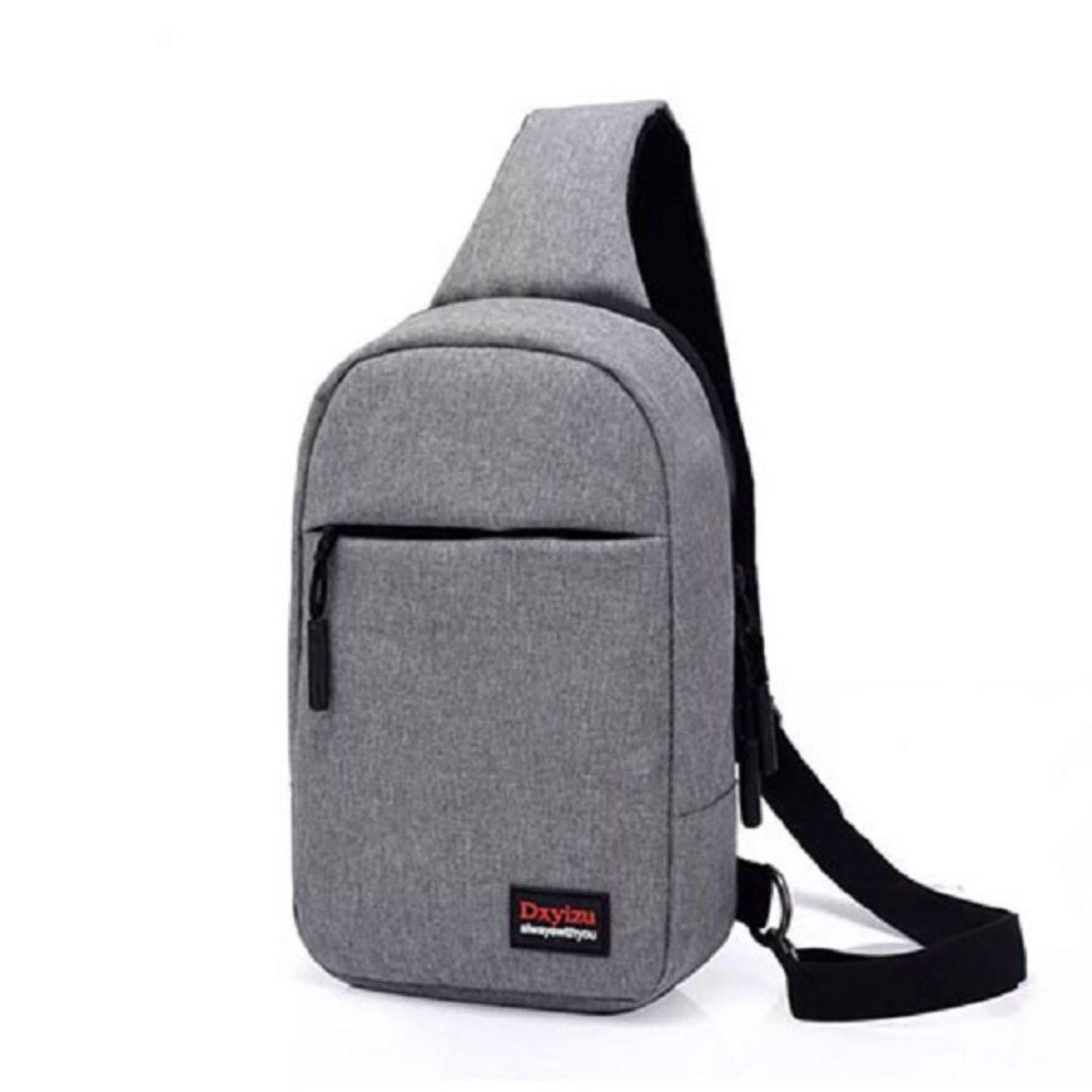 Túi đeo chéo một quai cho nam thời trang kiểu dáng DU02 (Xám)