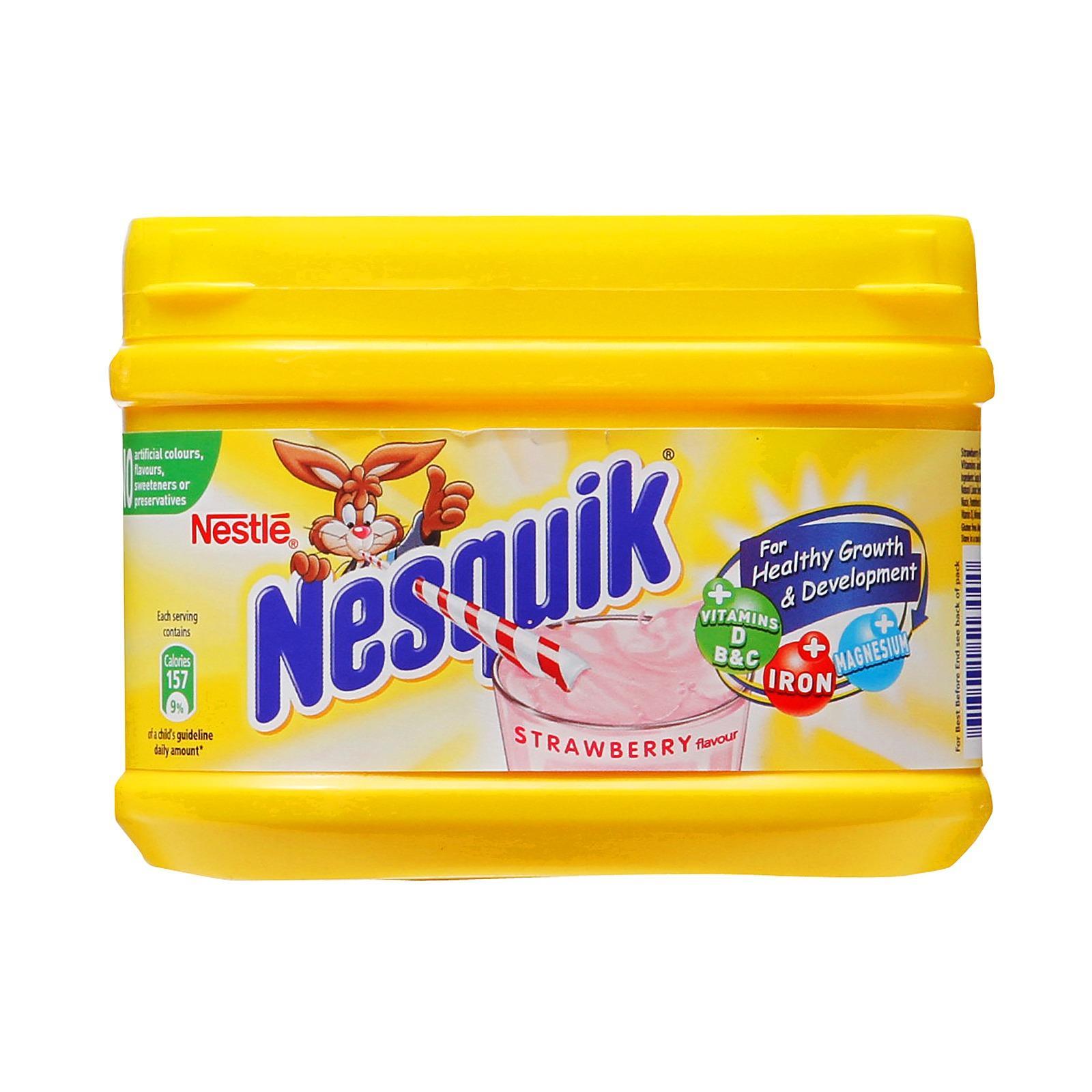 [NK Pháp] Nestle Nesquik 300g Bột dinh dưỡng pha sữa vị Dâu