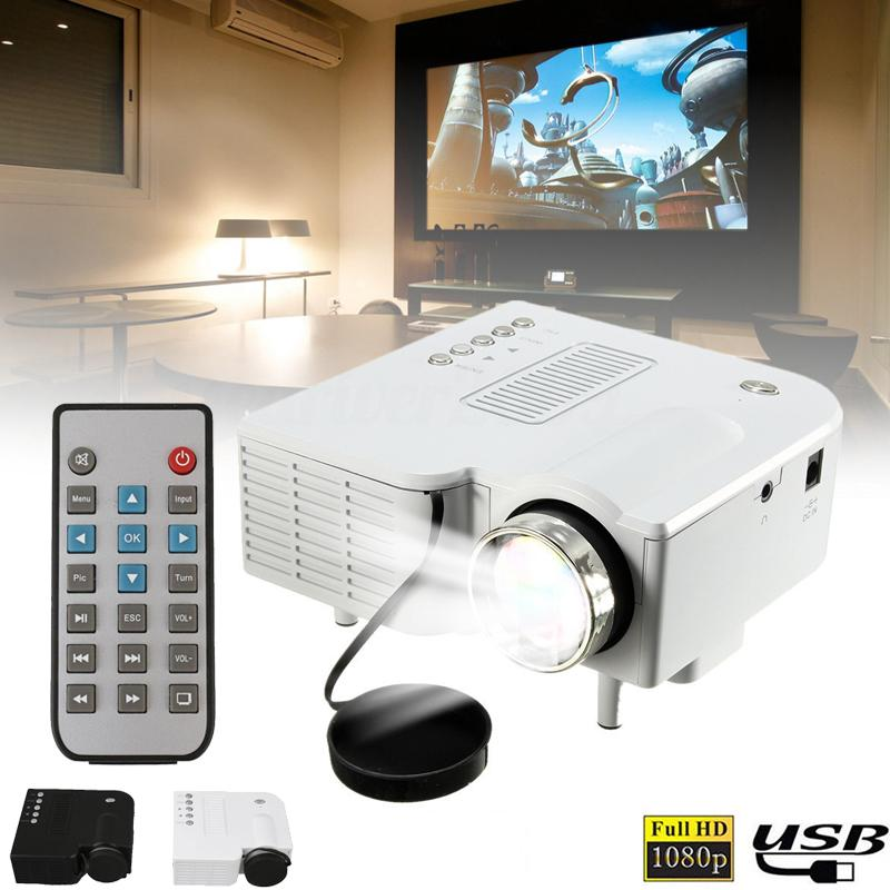 Hình ảnh Newworldmall * Mini Portable UC28B Home Theater Cinema Multimedia LED Video Projector Support USB TF Card US Plug