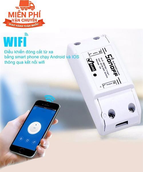 [MIỄN PHÍ SHIP TOÀN QUỐC] Bộ công tắc thông minh SonOFF Basic 10A điều khiển bật tắt và hẹn giờ thiết bị điện qua Wifi-3G-4G - Kmart