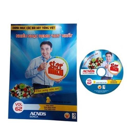 Đĩa DVD Karaoke Acnos mới nhất Vol 62 B (Đĩa xanh) + Sách list nhạc