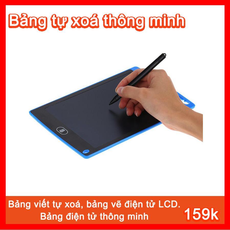 Bảng viết, bảng vẽ điện tử LCD tự xoá thông minh, 8.5 inch, Pin dùng 2 năm.Giúp bạn ghi chú việc quan trọng , hay để trẻ em ở nhà học tập. Làm qùa tặng cho bé thật ý nghĩa (Siêu Rẻ)
