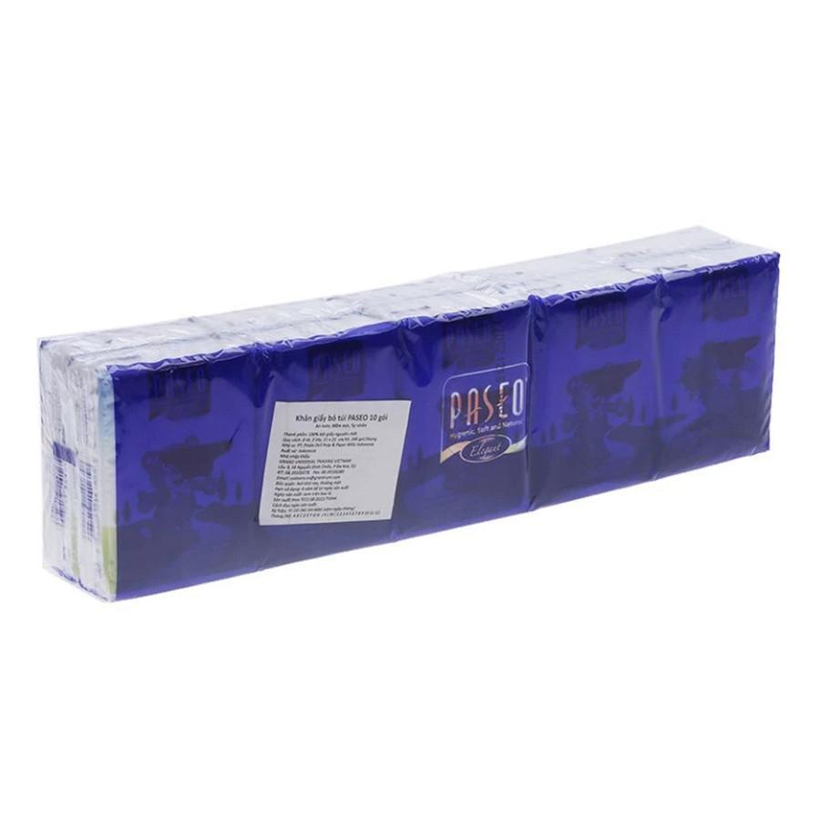 Combo 4 Lốc 10 gói Khăn giấy bỏ túi Paseo