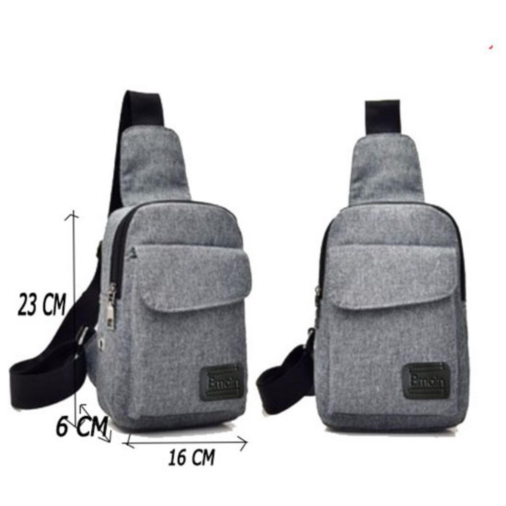 Túi đeo chéo thời trang Hộp (Xám) HOPX2
