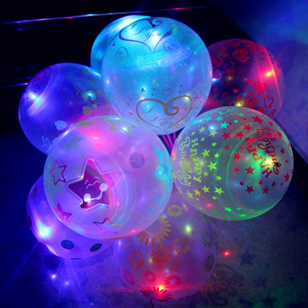 Pellet12 5 PCS Beautiful LED Flash Light Balloons Birthday Party Wedding Decor Decoration Baby Kids Toys