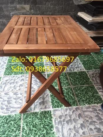 Bàn xếp gỗ, bàn xếp, bàn vuông cà phê, Bàn cafe gỗ mặt thưa