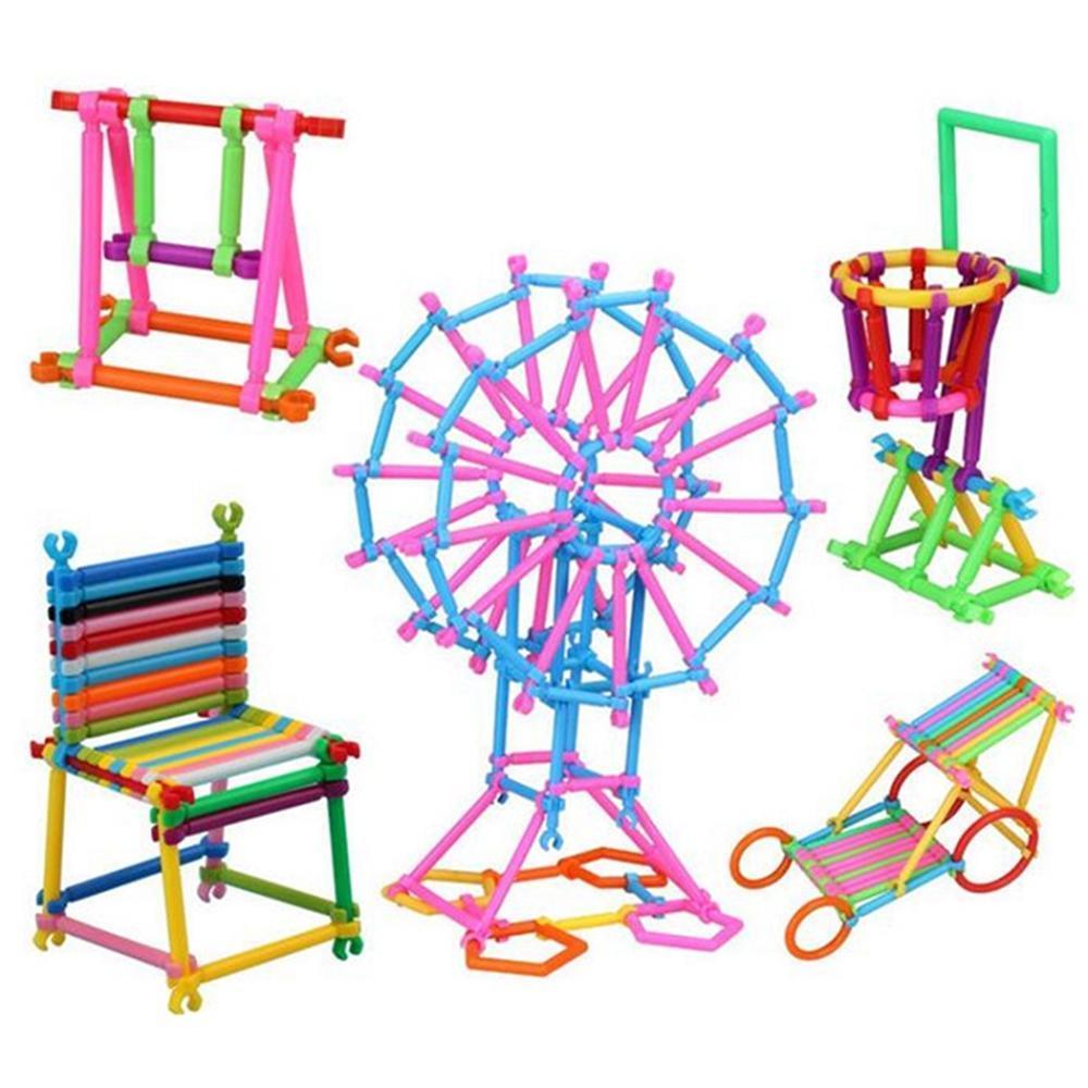 Xếp hình Que 3D 400 chi tiết KamiToy - Hộp nhựa - đồ chơi trẻ em đồ chơi  xếp hình lego - MS
