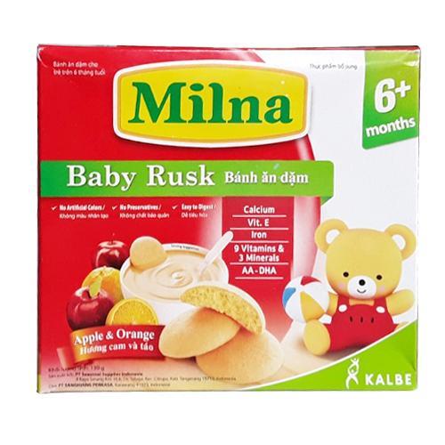 Bộ 2 Hộp Bánh Ăn Dặm Milna Vị Cam Táo...