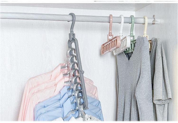 Combo 4 Móc quần áo đa chức năng - Chịu nặng tốt