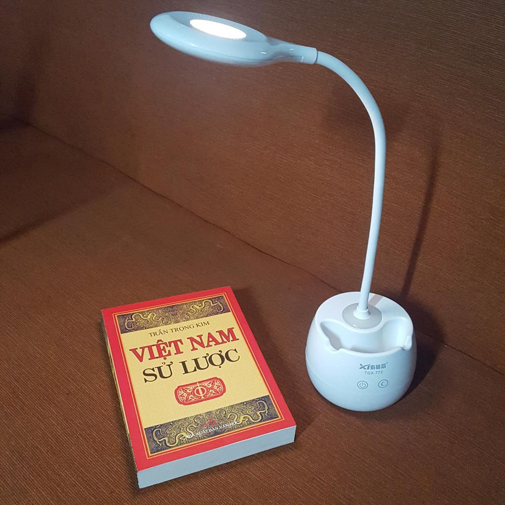 Đèn bàn tích điện sạc USB kiêm giá để điện thoại KamiHome TGX772 SS31