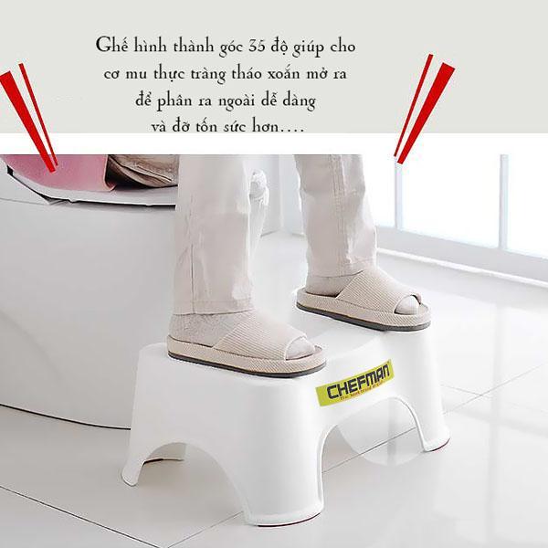 Ghế kê chân toilet chefman giá rẻ chống táo bón