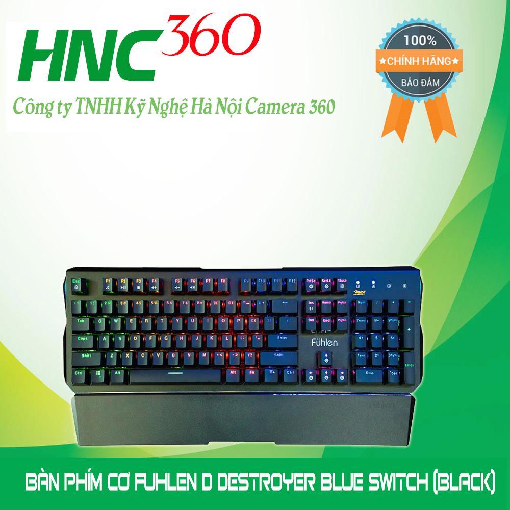 Bàn phím cơ Fuhlen D Destroyer Blue Switch (Đen)