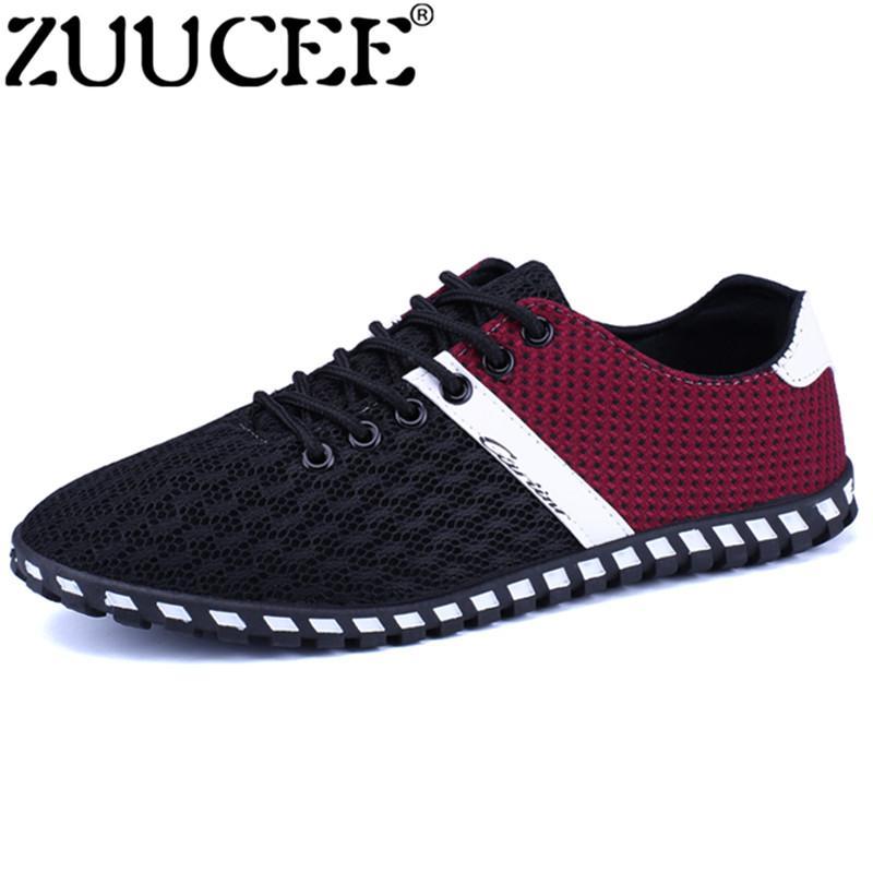 Zuucee Pria CET Kain Sepatu Lari Dapat Benafas Low-Cut Sepatu Olahraga  (Hitam) 4eb2fdfd54